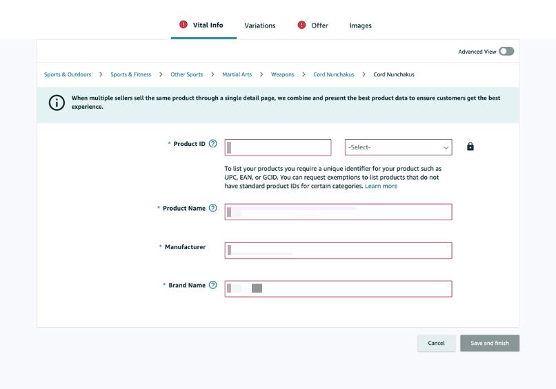 Amazon開店教學:填寫商品資訊